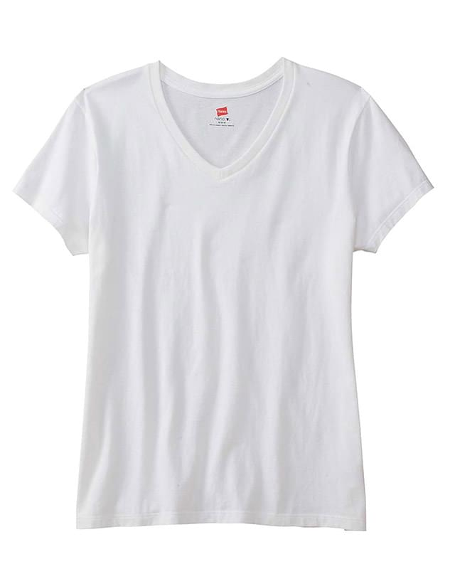 Ladies' 4.5 oz., 100% Ringspun Cotton nano-T V-Neck T-Shirt
