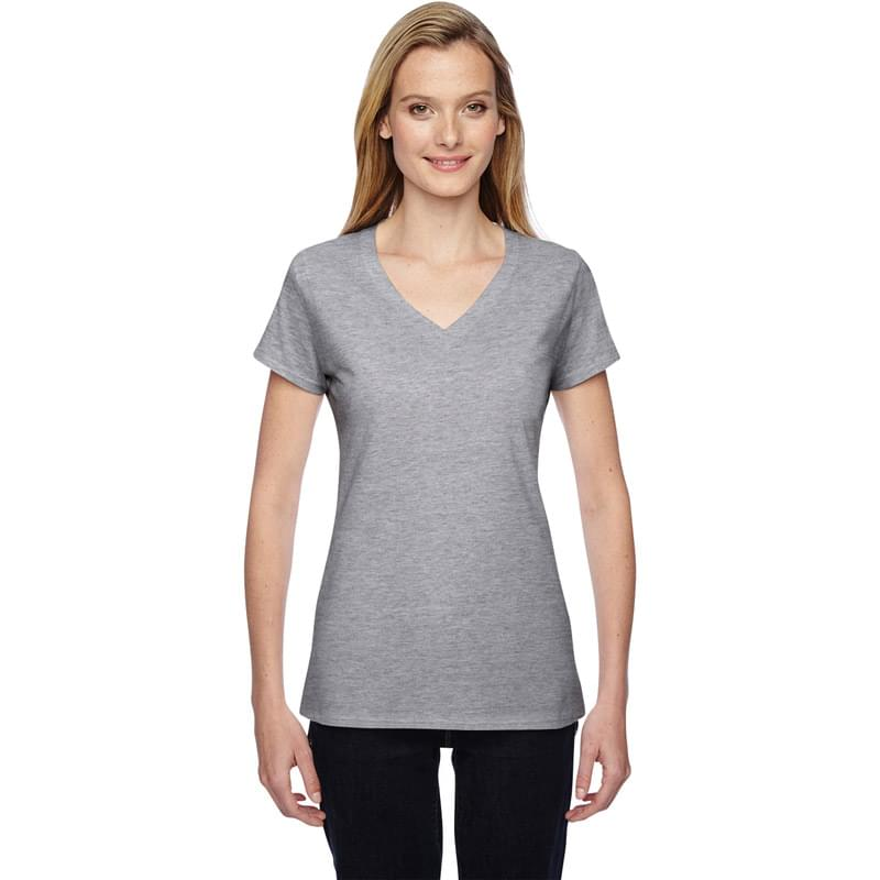 Ladies' 4.7 oz. Sofspun Jersey Junior V-Neck T-Shirt