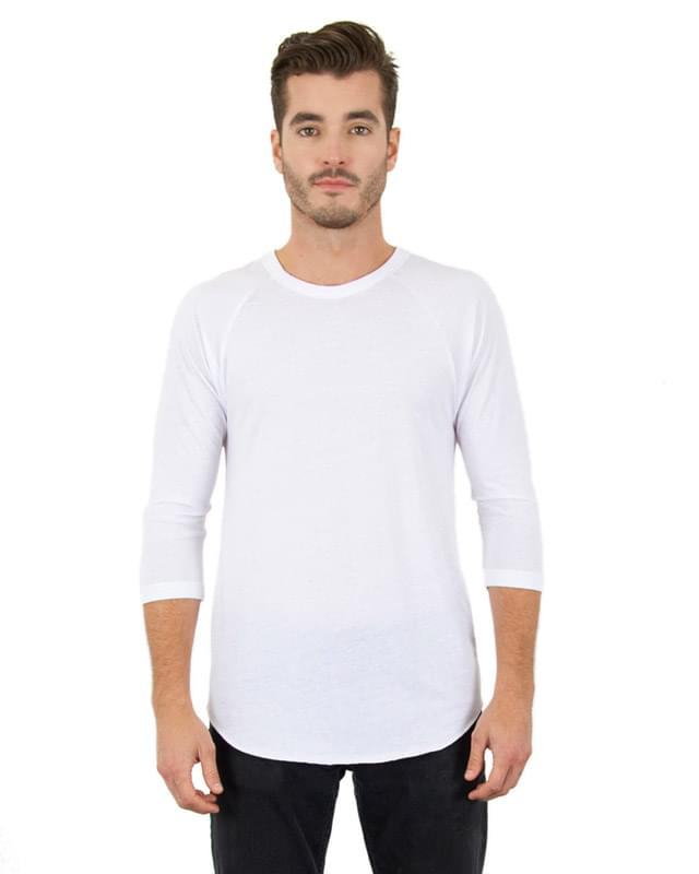 Unisex 4.6 oz. Tri-Blend 3/4-Sleeve Raglan T-Shirt