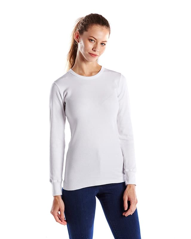 Ladies' 5.8 oz. Long-Sleeve Thermal Crewneck