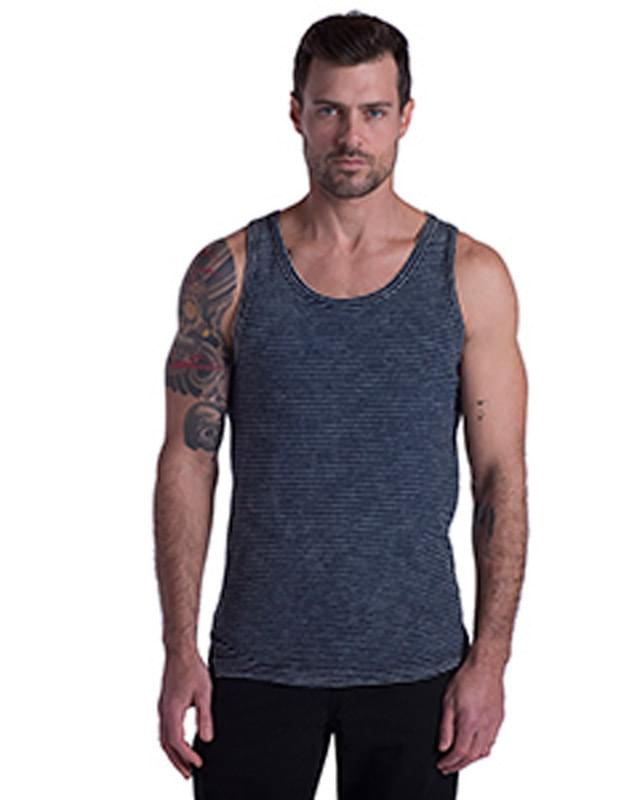 Men's Indigo Striped Tank
