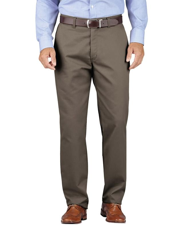 Men's KHAKI Relaxed Fit Tapered Leg Comfort Waist Pant