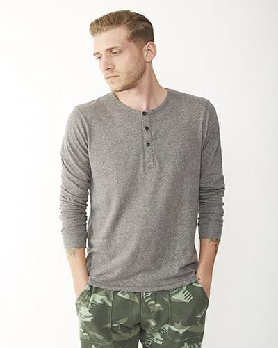 Men's Eco Mock Twist Long-Sleeve Henley Shirt