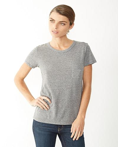 Ladies' Ideal Eco Jersey Triblend Pocket T-Shirt