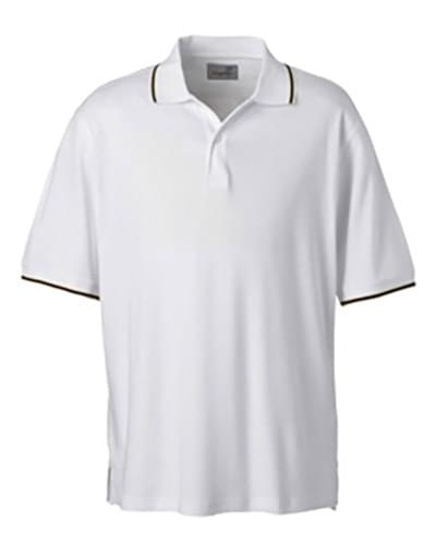 Mens  Performance Wicking Blend Polo
