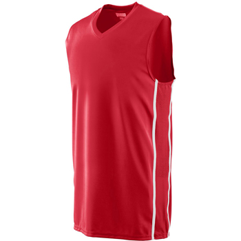 Adult Wicking Polyester Sleeveless Jersey with Mesh Inserts
