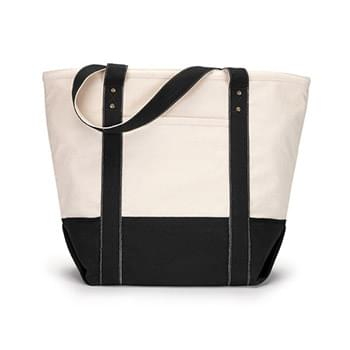 Seaside Zippered Cotton Tote