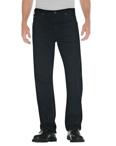 Unisex Relaxed Straight Fit 5-Pocket Denim Jean Pant