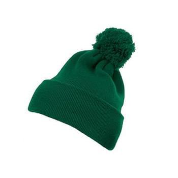 Cuffed Knit Beanie with Pom Pom Hat