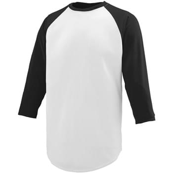 Youth Wicking Polyester 3/4 Raglan Sleeve T-Shirt