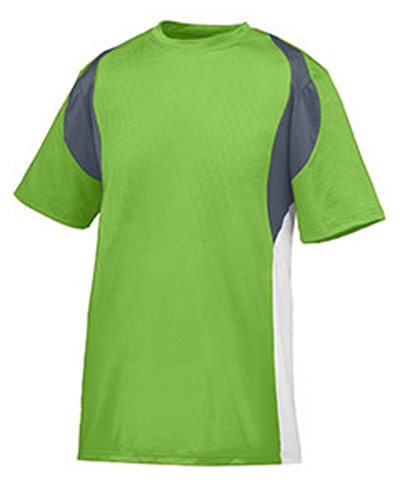 Adult Wicking Poly/Span Short-Sleeve Jersey with Contrast Inserts