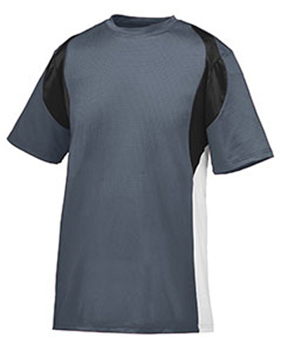 Youth Wicking Poly/Span Short-Sleeve Jersey with Contrast Inserts