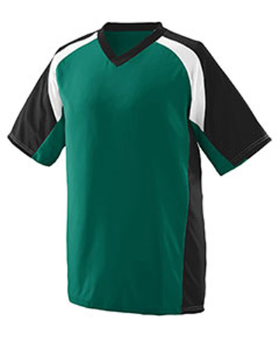 Adult Wicking Polyester V-Neck Short-Sleeve Jersey with Inserts