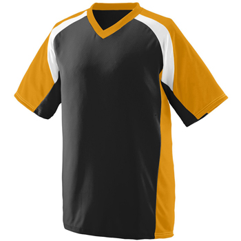 Youth Wicking Polyester V-Neck Short-Sleeve Jersey with Inserts