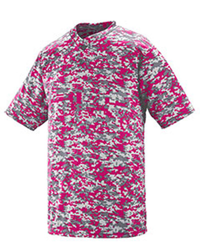Adult Polyester Digi Print Two-Button Short-Sleeve Jersey