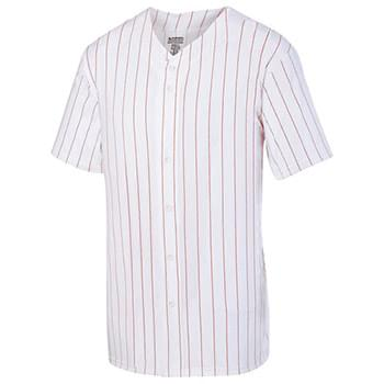 Youth Pin Strp Full Button Baseball Jersey