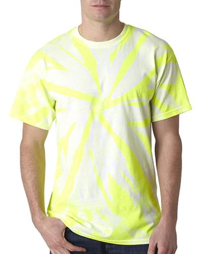 Adult Neon 1-Color Pinwheel Tee
