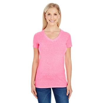 Ladies' Triblend Short-Sleeve V-Neck T-Shirt