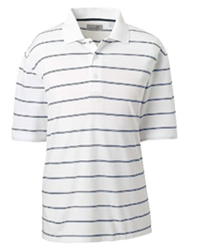 Mens  High Twist Cotton Tech Stripe Polo