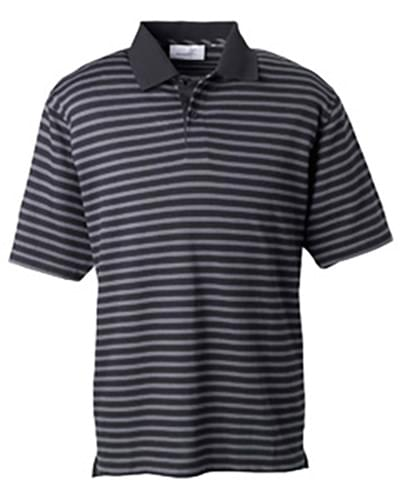 Mens  Dual Tone Piqu Stripe Polo