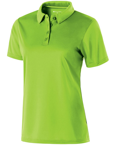 Ladies Polyester Textured Stripe Shift Polo