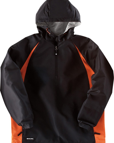 Adult Polyester 1/4 Zip Hooded Hurricane Jacket