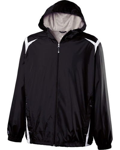 Adult Polyester Full Zip Hooded Collision Jacket