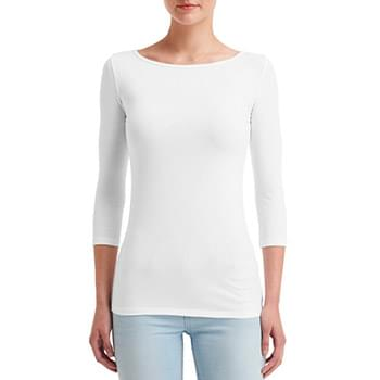 Ladies' Stretch 3/4 Sleeve T-Shirt