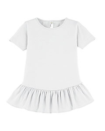 Girls' Ruffle Fine Jersey T-Shirt