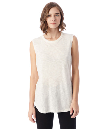 Inside Out Garment Dye Slub Sleeveless T-Shirt