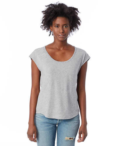 Ladies' Melrose Organic Pima Cotton Scoop T-Shirt