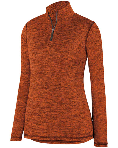 Ladies' Intensify BlackHeather Quarter-Zip Pullover