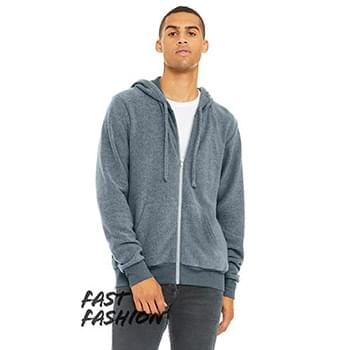 Adult Sueded Fleece Full Zip Hooded Sweatshirt