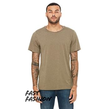 FWD Fashion Unisex Triblend Raw Neck T-Shirt