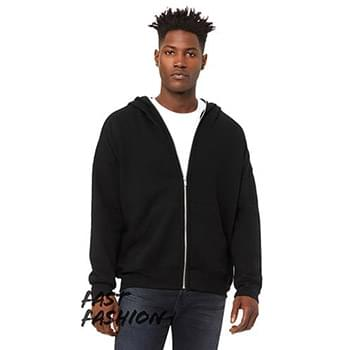 Unisex Full-Zip Fleece with Zippered Hood
