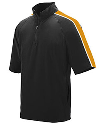 Adult Water Resistant Poly/Span Short-Sleeve Half Zip Pullover