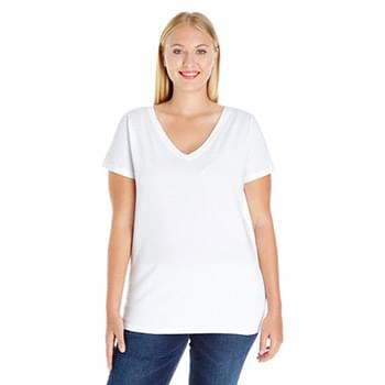 Ladies' Curvy V-Neck T-Shirt
