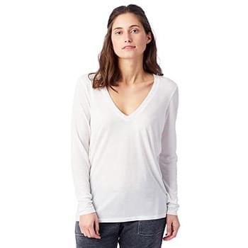 Ladies Deep V-Neck T-Shirt