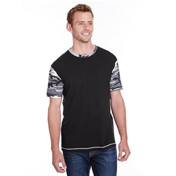 Adult Fashion Camo Ringer T-Shirt