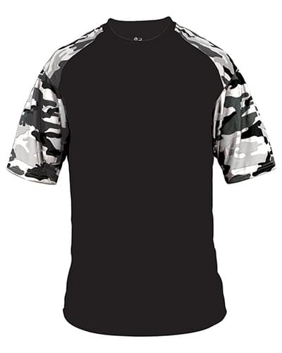 Adult Camo Colorblock Short-Sleeve T-Shirt