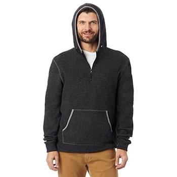 Adult Quarter Zip Fleece Hooded Sweatshirt