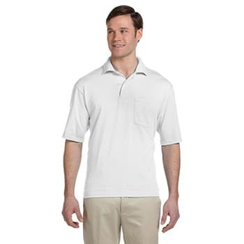 Adult 5.6 oz. SpotShield? Pocket Jersey Polo