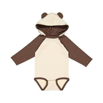 Infant Long Sleeve Fine Jersey Bodysuit With Ears