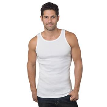 Men's 6.1 oz., 100% Ringspun Cotton 2x1 Ribbed Tank Top