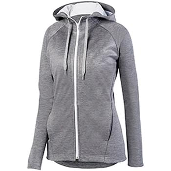 Ladies' Zoe Tonal Heather Full Zip Hoodie