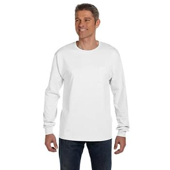 Men's 6.1 oz. Tagless Long-Sleeve Pocket T-Shirt