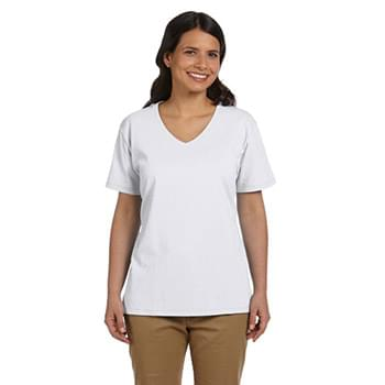 Ladies' 5.2 oz. Tagless? V-Neck T-Shirt