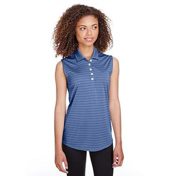 Ladies' Rotation Stripe Sleeveless Polo