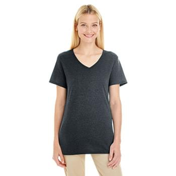 Ladies' 4.5 oz. TRI-BLEND V-Neck T-Shirt