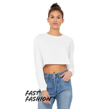 Fast Fashion Ladies' Cropped Long-Sleeve T-Shirt